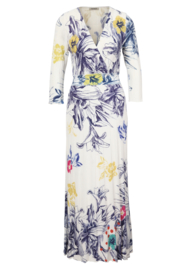 IVKO Woman - V-Neck Dress Floral Print White