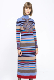 IVKO Roll-Neck Dress Stone Blue