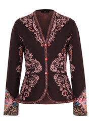 IVKO Woman - Cardigan Floral Pattern Russet