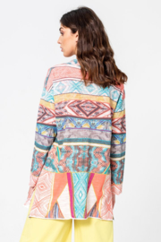 IVKO Woman - Cardigan with Print Off-White