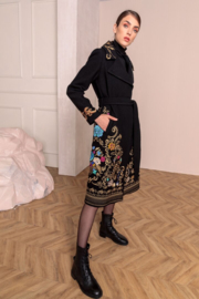 IVKO Woman - Boiled Wool Coat with Embroidery Black