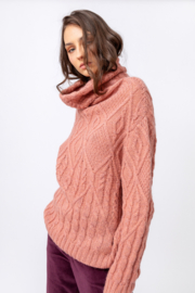 IVKO Woman - Structure Roll-Neck Pullover Powder