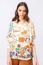 IVKO Woman - Printed Pullover Trencar Pattern Off-White