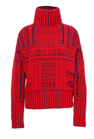 IVKO Pullover Brocade Pattern Red