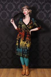 LaLamour Wrap Dress Dance Palace Green Gradient