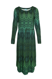 LaLamour Long Tunic Dress Lace Petrol