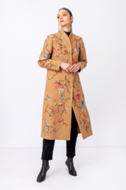 IVKO Woman - Boiled Wool Coat with Embroidery Nougat