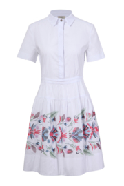 IVKO Woman - Dress Floral Embroidery White