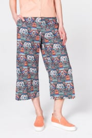 IVKO Woman - Pants Geometric Pattern Black