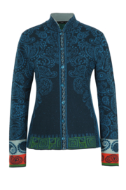 IVKO Woman - Jacquard Jacket with Pleats Pacific