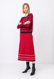 IVKO Woman - Long Skirt with Ribs Rosewood
