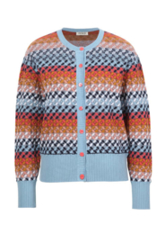 IVKO Woman - Cardigan Geo Pattern Sky