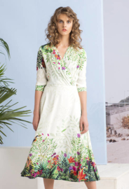 IVKO Tropic Forest Dress Off-White