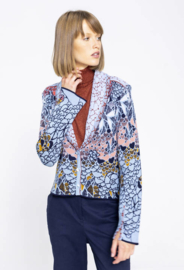 IVKO Woman - Collar Jacket Jacquard Pattern Sky