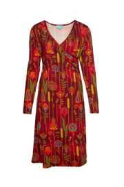 LaLamour Classic Wrap Dress Folky Red