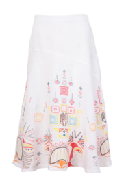 IVKO Embroidery Skirt White