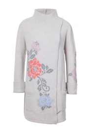 IVKO Long Jacket Floral Intarsia Grey