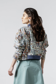 IVKO Woman - Bomber Jacket Floral Pattern Off-White - Pre-Collectie 2020
