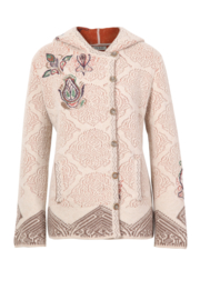 IVKO Embroidered Jacket with Hood Pearl