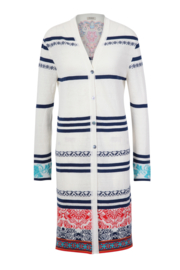 IVKO Long Jacket with Embroidery White