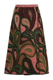 IVKO Woman - Skirt Geometric Pattern Russet