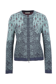 IVKO Woman - Cardigan with Zip Aqua - Pre-Collection 2020