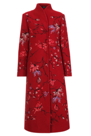 IVKO Woman - Boiled Wool Coat with Embroidery Rosewood