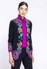 IVKO Woman -  Cardigan Intarsia Pattern Black