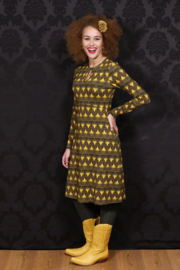 LaLamour Dress High Neck Twenty Green Gold