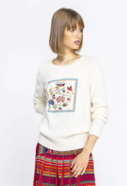 IVKO Embroidered Pullover White