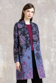 IVKO Coat Floral Pattern Anthracite