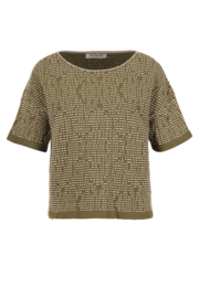 IVKO Woman - Pullover Structure Pattern Olive - Pre-Collection 2020