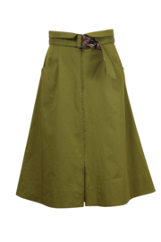 IVKO Woman - Zip-Down Skirt Olive - Pre-Collection 2020