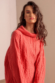 IVKO Woman - Roll-Neck Structure Pullover Red Orange