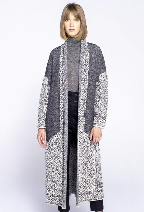 IVKO Coat Structure Pattern Off-White