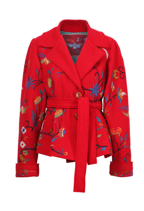 IVKO Embroidered Jacket Red