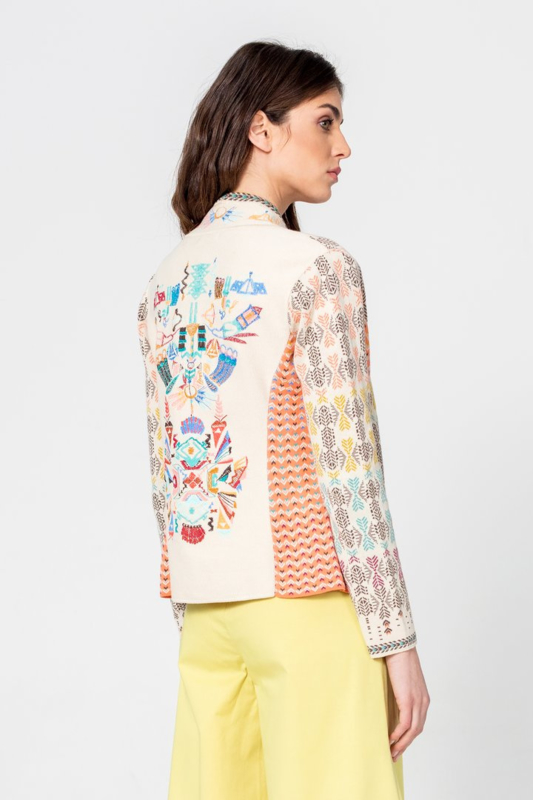 IVKO Woman - Embroidered Jacket Off-White