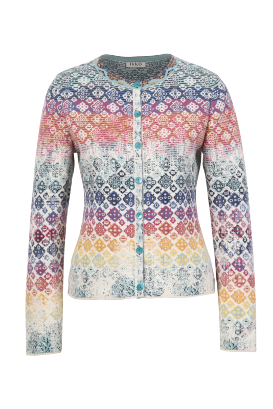 IVKO Woman - Cardigan Geometric Pattern Off-White - Pre-Collectie 2020