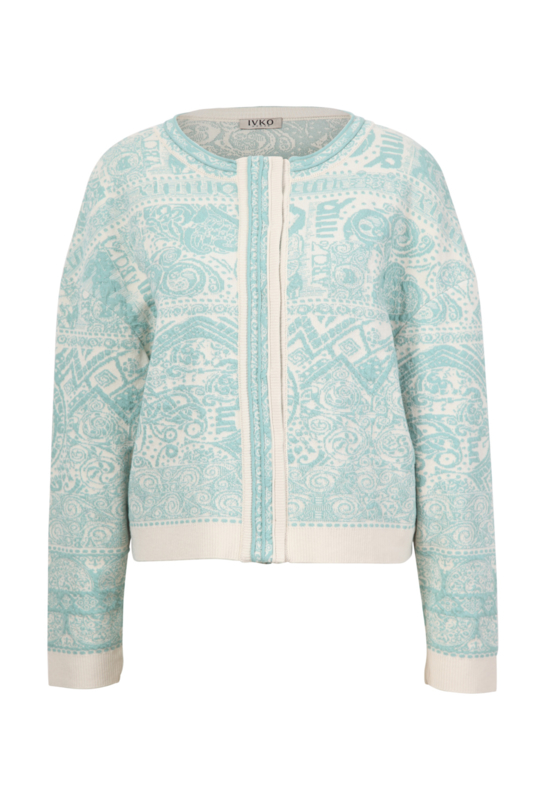 IVKO Woman - Bomber Jacket Jacquard Pattern Off-White - Pre-Collectie 2020