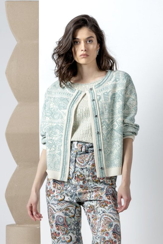 IVKO Woman - Bomber Jacket Jacquard Pattern Off-White - Pre-Collection 2020