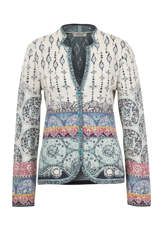 IVKO Woman - Jacket Jacquard Pattern Off-White - Pre-Collection 2020