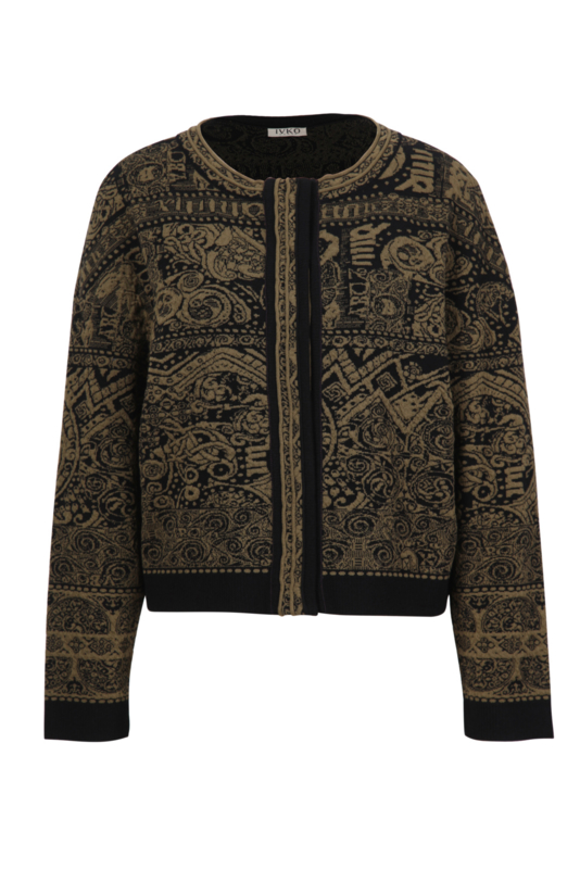 IVKO Woman - Bomber Jacket Jacquard Pattern Black - Pre-Collectie 2020