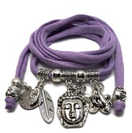 Buddha Ibiza - zilver - lila paars