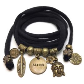 Karma - brons - zwart