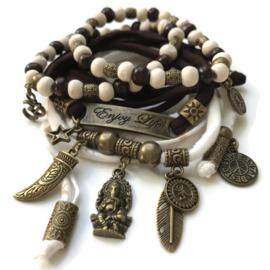 Set charm Ganesha - Enjoy Life - bronze