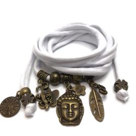Buddha Ibiza - brons - wit