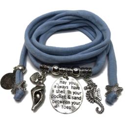Beach - zilver - pastel blauw