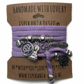 3 x Lilac purple
