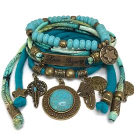 Set Love Ibiza - Turquoise steen - mint turquoise zeegroen