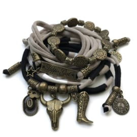 Set hippie girl - Buffalo - sand and black